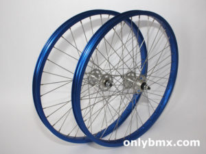 Araya and Shimano 24″ BMX Wheel Set – Blue / Silver