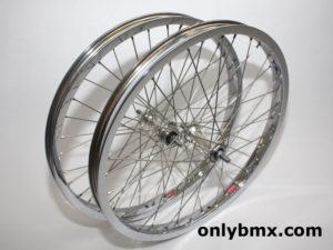Araya 7X and Suzue BMX Wheel Set – Chrome