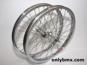 Araya 7X and Suzue BMX Wheel Set – Chrome
