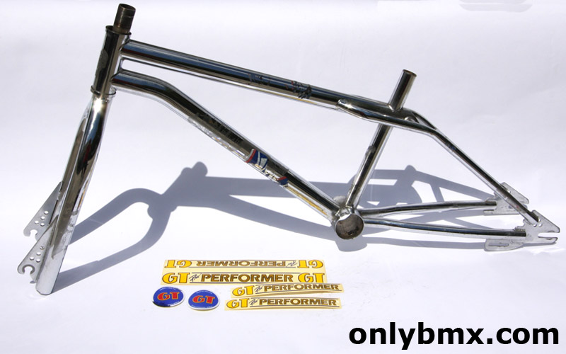 GT BMX Pro Performer Frame and Forks for sale – 1984 – Chrome