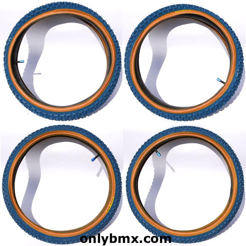Knarler Knobby Blue BMX Tyres
