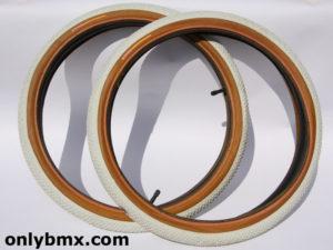 Panaracer Freestyle BMX Tyres – White – NOS