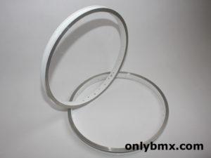 Ukai 20″ BMX rims – White/Silver