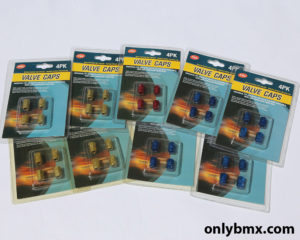 Anodised Valve Caps – Blue, Red and Gold